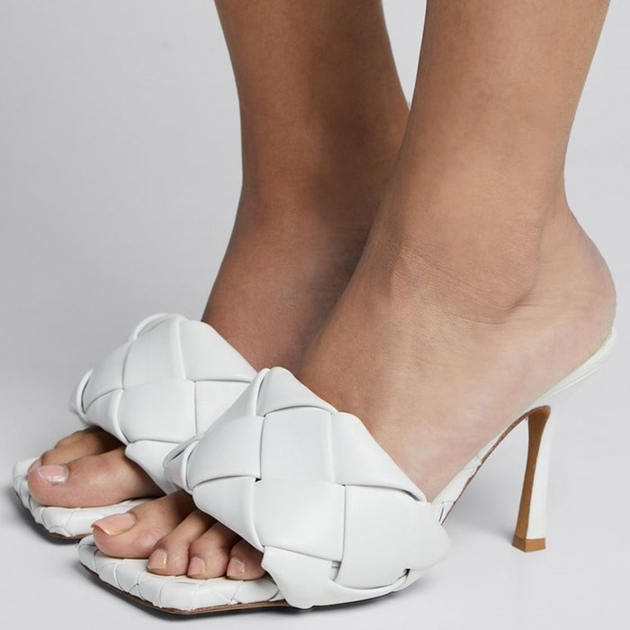 Intrecciato-Woven Leather Sandals