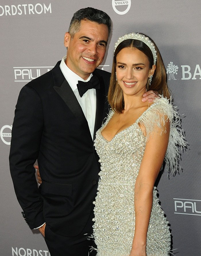 Cash Warren accompanies his wife Jessica Alba to the Baby2Baby Gala 2019