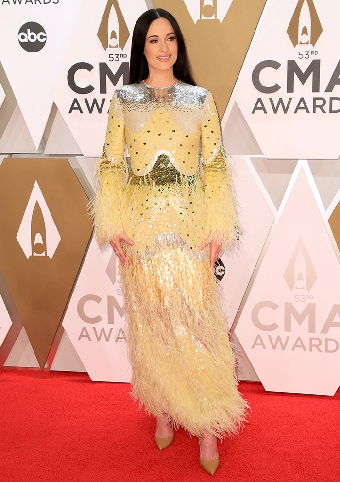 Kacey Musgraves wins two major awards at the 53rd Annual Country Music Association Awards held at Bridgestone Arena in Nashville on November 13, 2019