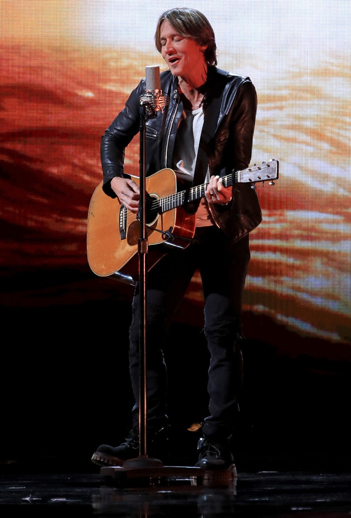Keith Urban performs a stripped-down version of We Were at the 2019 CMA Awards