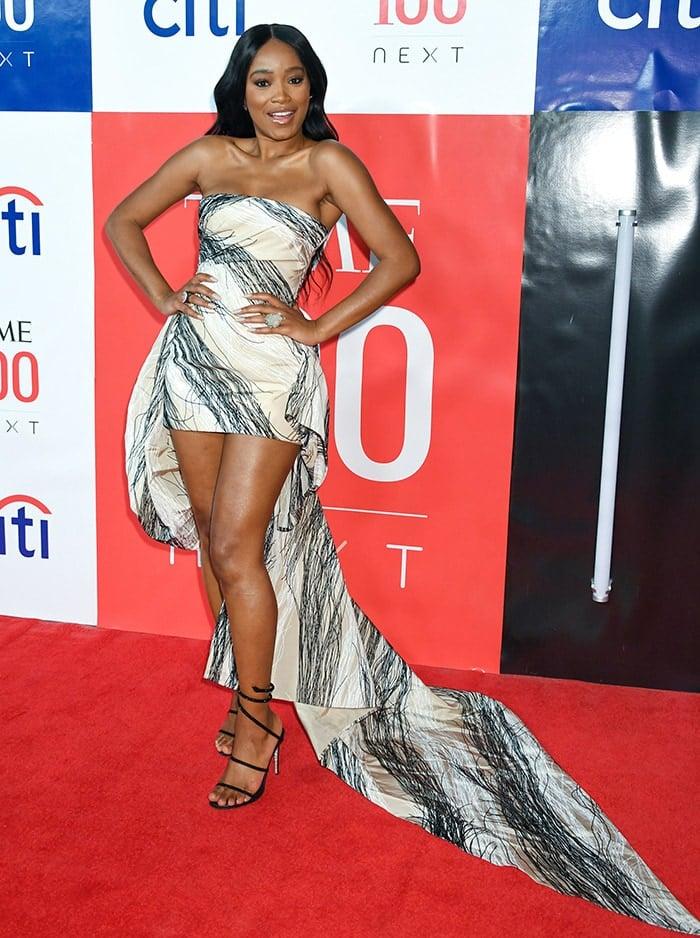 Keke Palmer flaunts her legs at the Time 100 Next Gala
