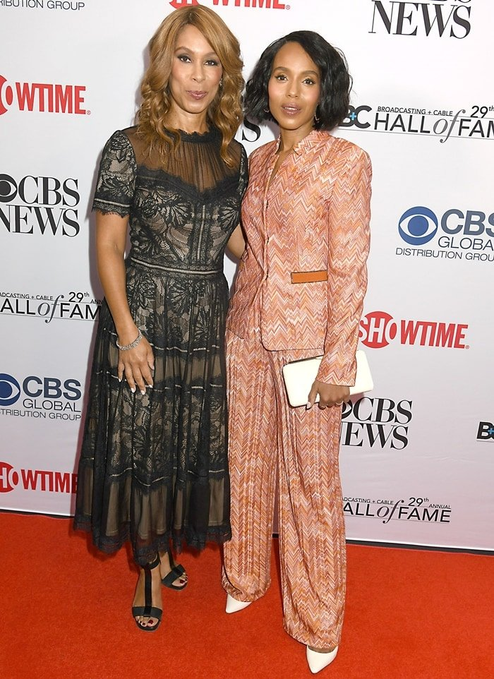 Channing Dungey and Kerry Washington attend the Broadcasting & Cable's 2019 Hall of Fame Gala