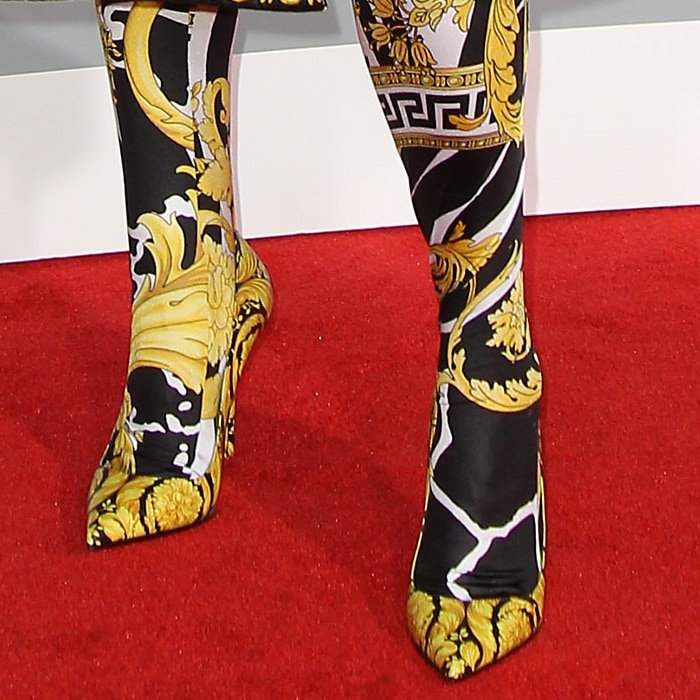 The Versace Barocco print was first designed by Gianni Versace for the Fall Winter 1991 collection