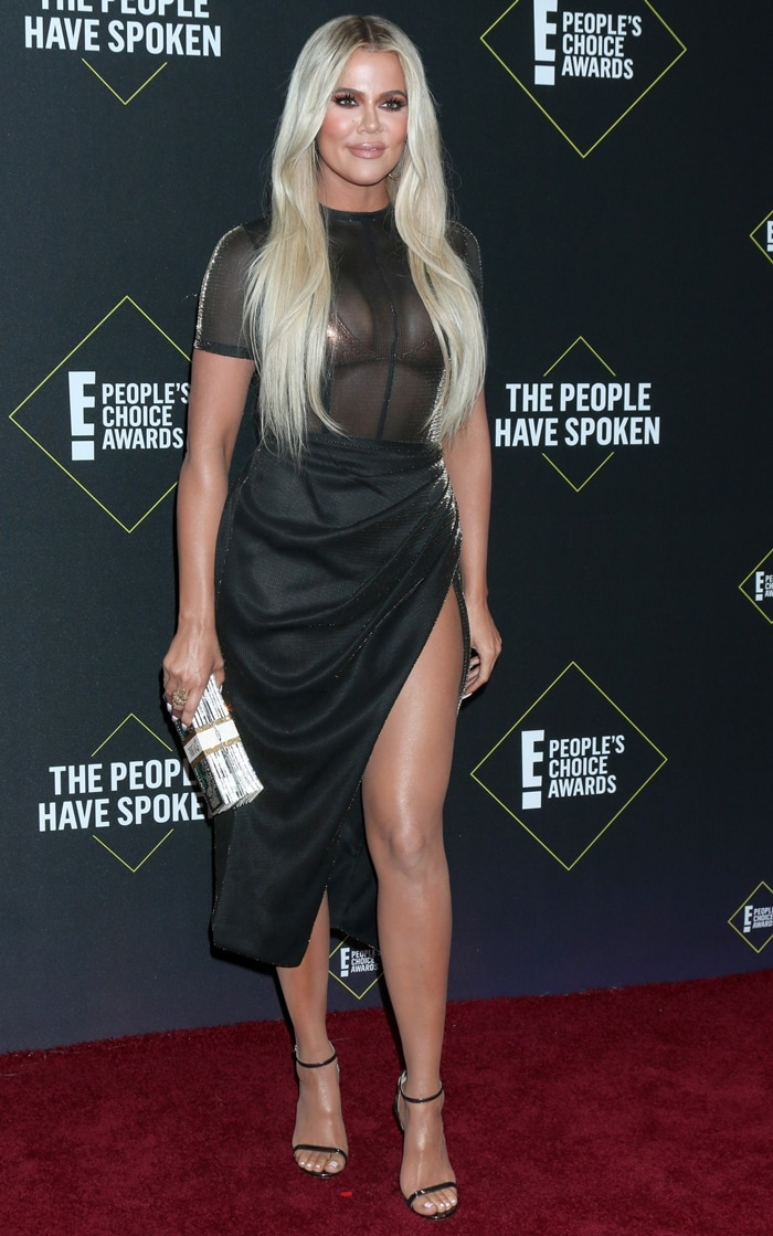 Khloe Kardashian won the award for Best Reality Star at the 2019 People's Choice Awards