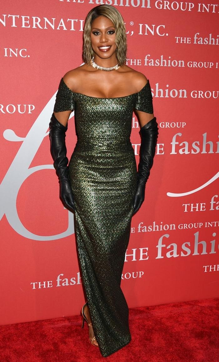 Laverne Cox attends the FGI 36th Annual Night of Stars Gala