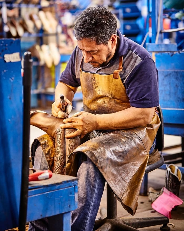 Lucchese has employed the finest bootmakers in the world since 1883