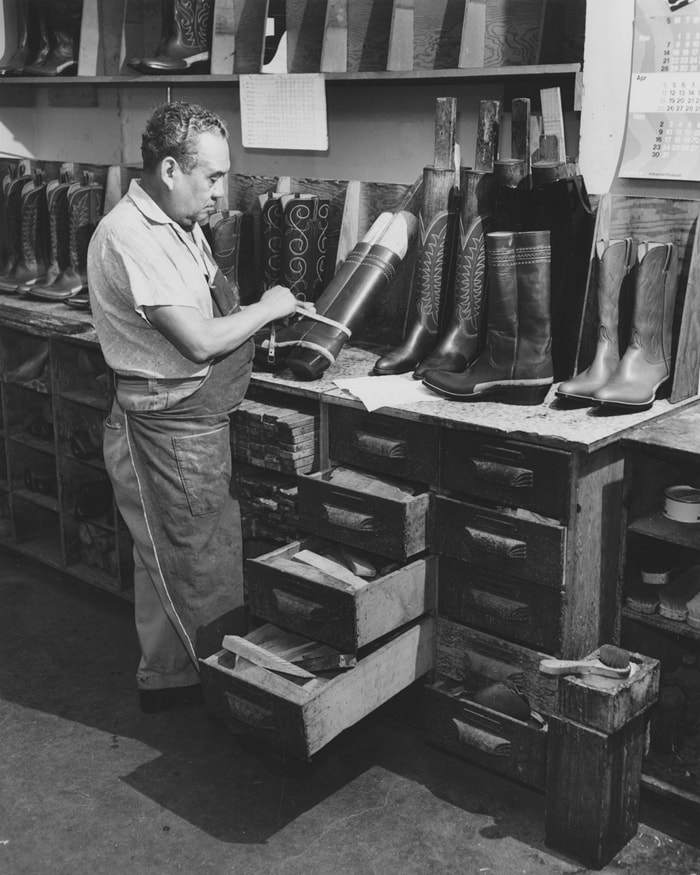 The craftsmen at Lucchese have been making boots by hand since 1883