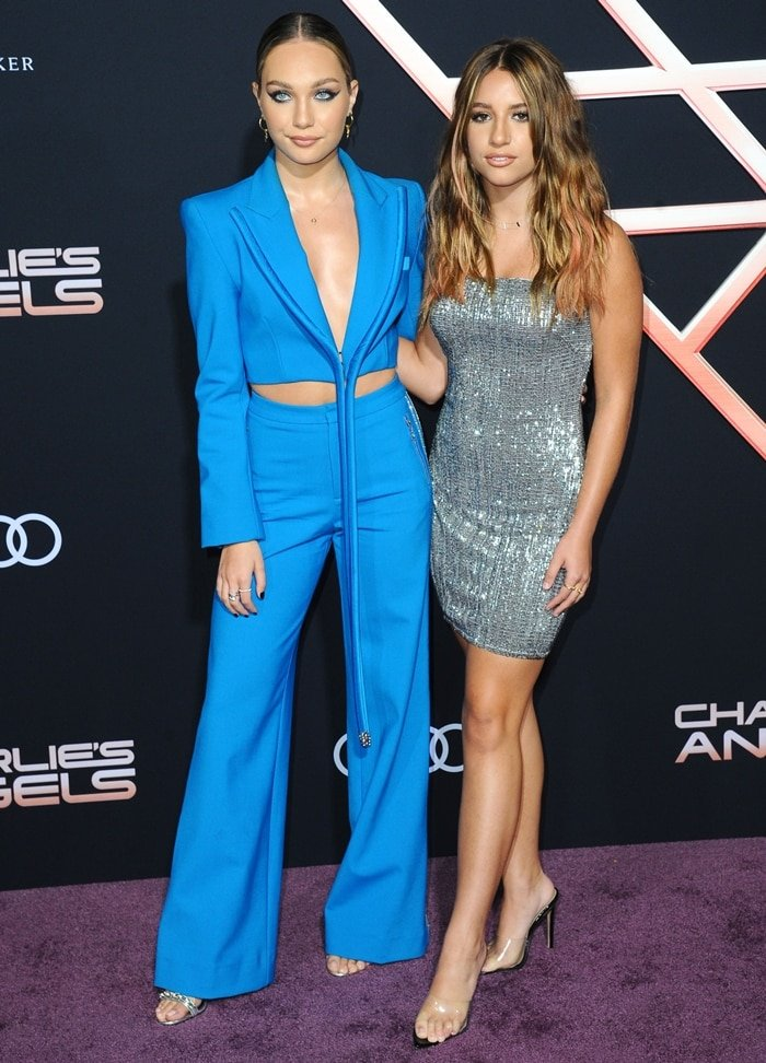 Sister duo Maddie and Kenzie Ziegler hit the carpet at the premiere of Charlie's Angels