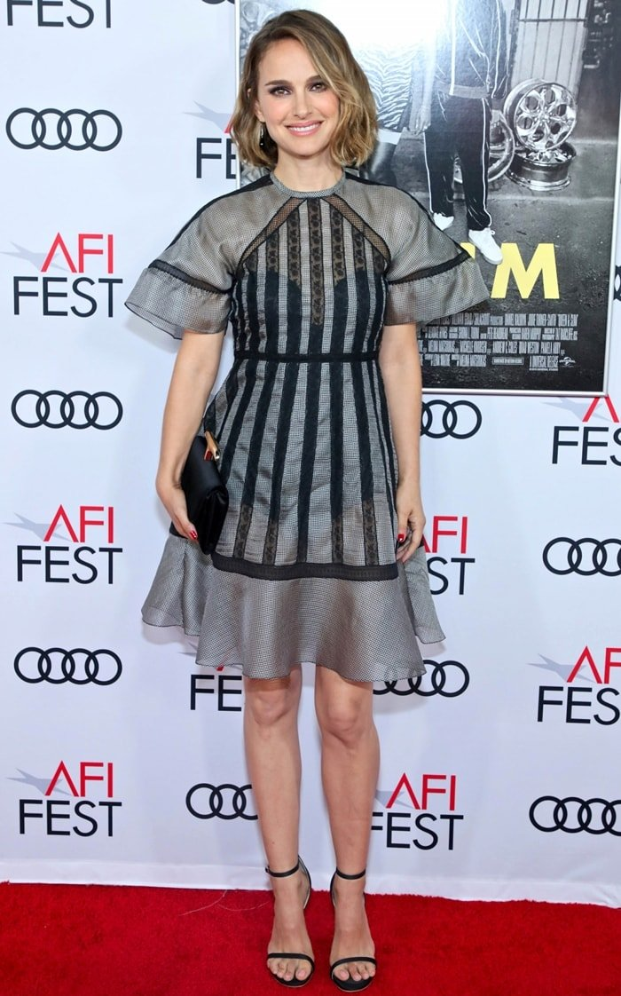 """Natalie Portman flaunted her legs at the """"Queen & Slim"""" Premiere at AFI FEST 2019"""