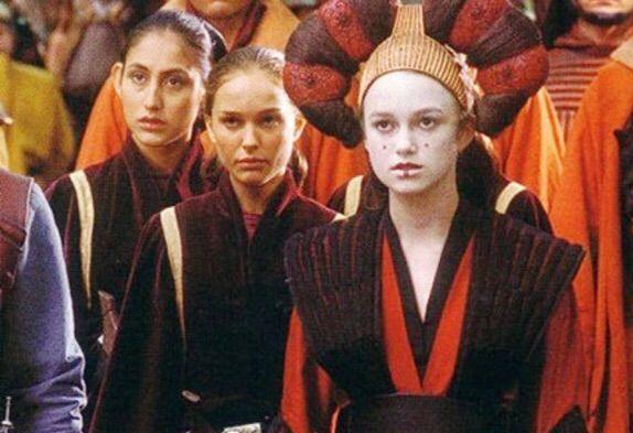 Keira Knightley had a minor role in 'Phantom Menace' as Padmé Amidala's (portrayed by Natalie Portman) decoy Sabe