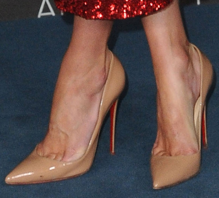 Nicky Hilton keeps it classic in Christian Louboutin nude pumps