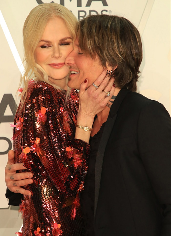 Keith Urban with his first wife Nicole Kidman at the 2019 CMA Awards