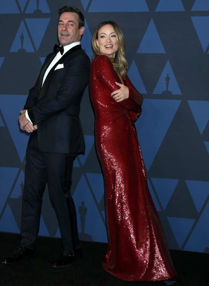 Jon Hamm and Olivia Wilde arrive at the Academy Of Motion Picture Arts And Sciences' 11th Annual Governors Awards