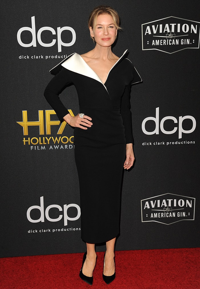 Renee Zellweger wins the Hollywood Actress award at the 23rd Annual Hollywood Film Awards held at the Beverly Hilton Hotel on November 3, 2019