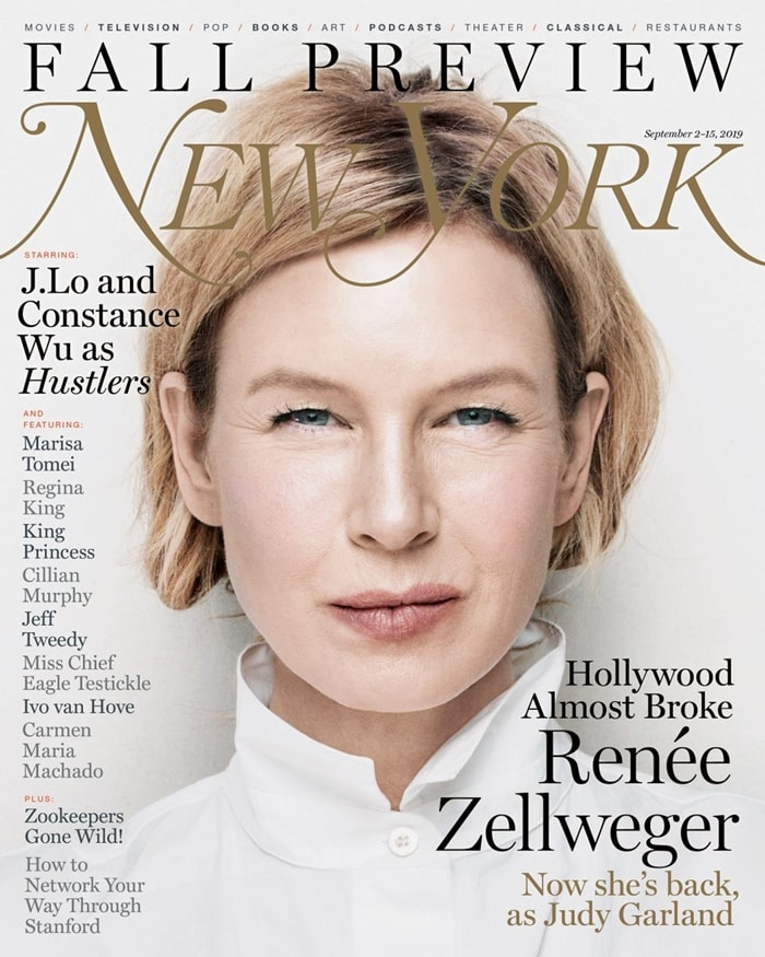 Renee Zellweger reveals why she stopped acting in the cover story for New York Magazine