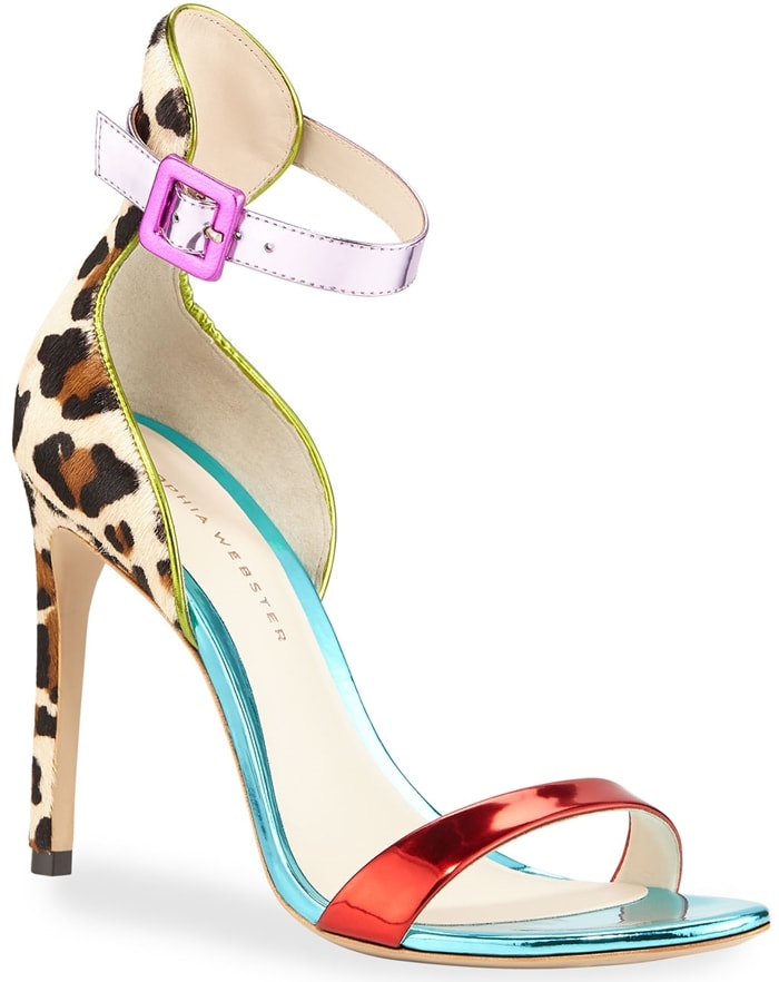 Sophia Webster Nicole Leopard-Print Colorblock Sandals
