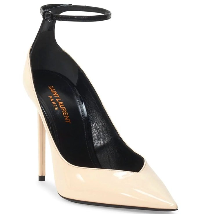 Saint Laurent 'Zoe' Ankle-Strap Pumps