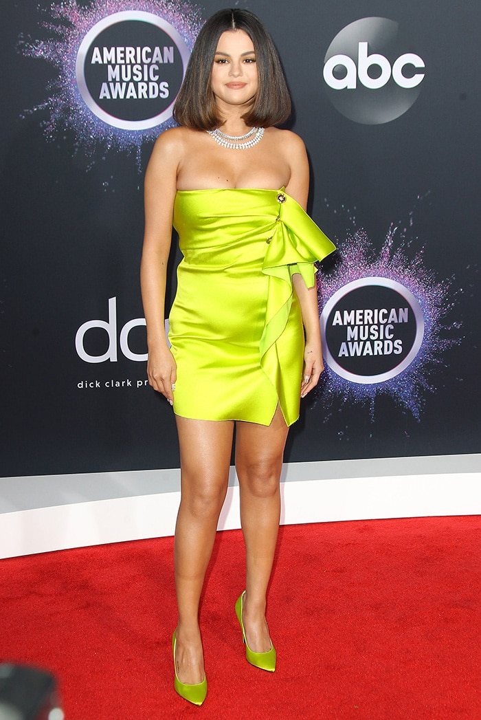 Selena Gomez at the 2019 American Music Awards held at the Microsoft Theater in Los Angeles on November 24, 2019