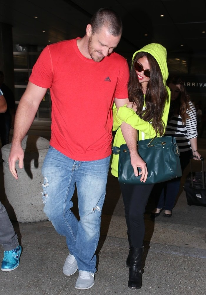 Selena Gomez was picked up by her stepfather Brian Teefey