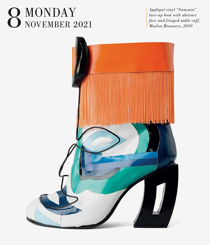 Each day/page features an absolutely gorgeous new shoe and information about each style