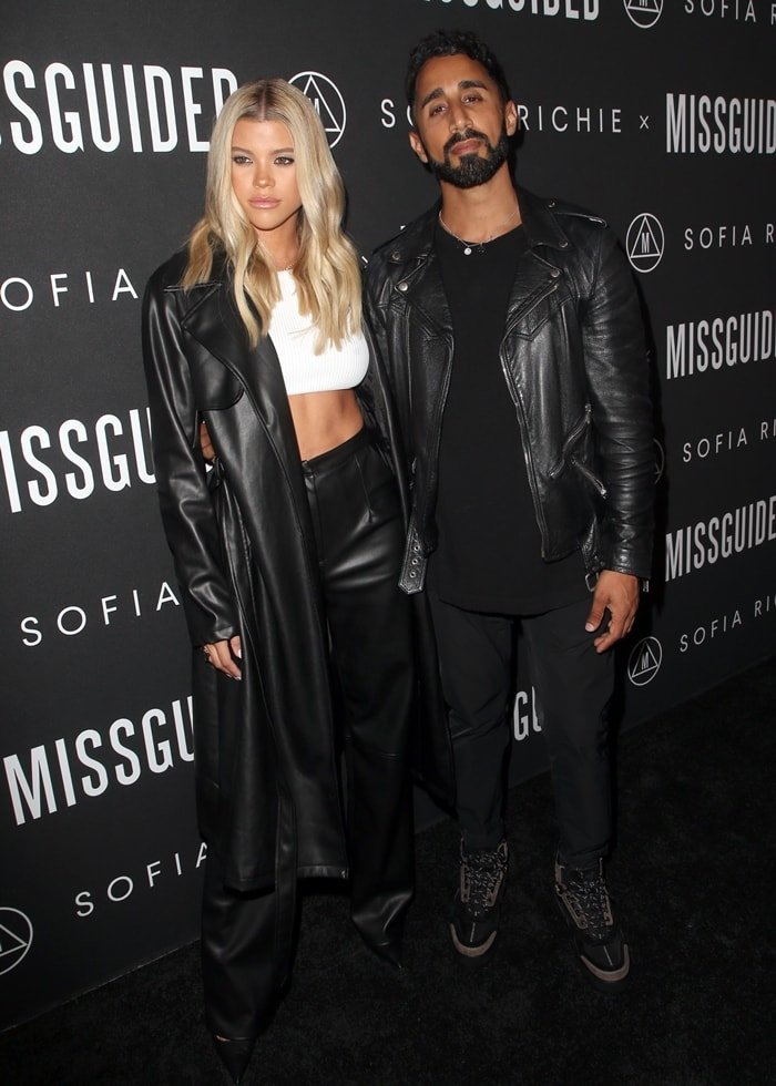 Nitin Passi, who has a net worth of £250 million, posing with Sofia Richie at the Missguided collection launch party