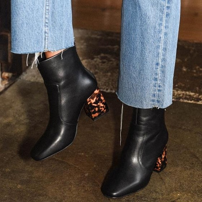 Cecile Turtle Shell Wrapped Heel Boots