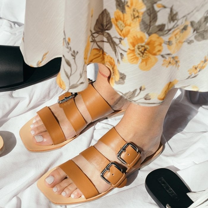 Buckled Foster Slide Sandals