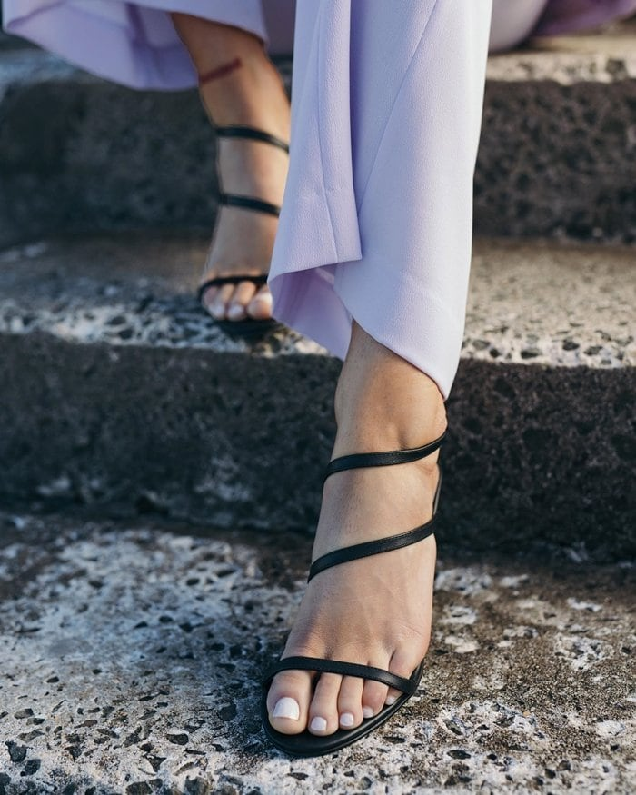Summer-Ready Black Lola Heels