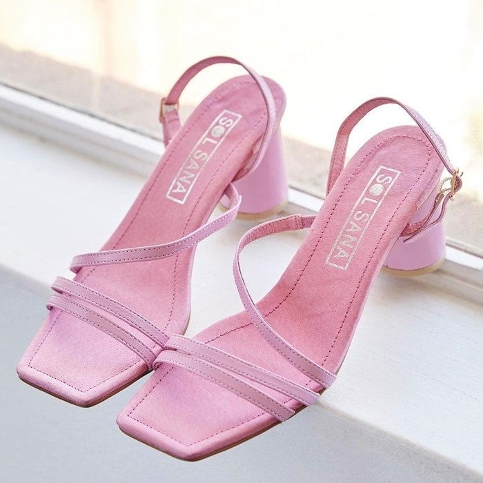Pink Sol Sana Yole Square Toe Sandals