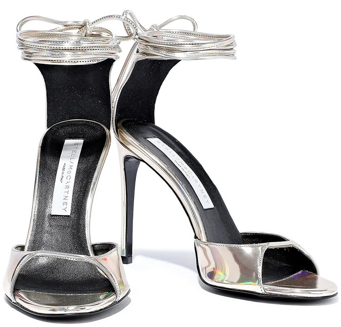 Stella McCartney Iridescent Faux Leather Sandals