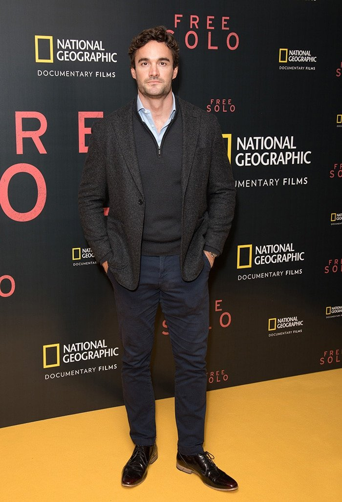Thom Evans at the Free Solo film screening in London on December 11, 2018