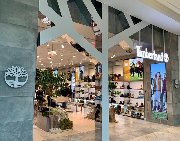 Timberland's shoe store in the King of Prussia, Pennsylvania