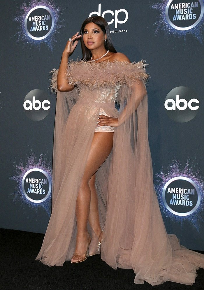 Toni Braxton wows in leg-baring sheer LaBourjoisie dress