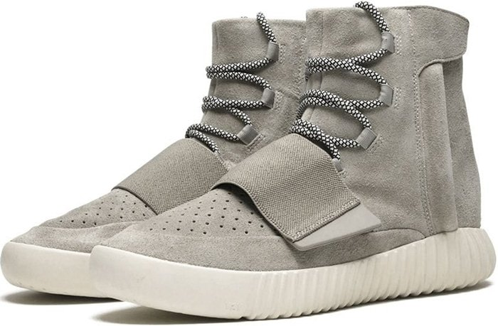 Adidas introduced the Yeezy Boost 750, the inaugural sneaker from Kanye West's Yeezy line, on February 14, 2015