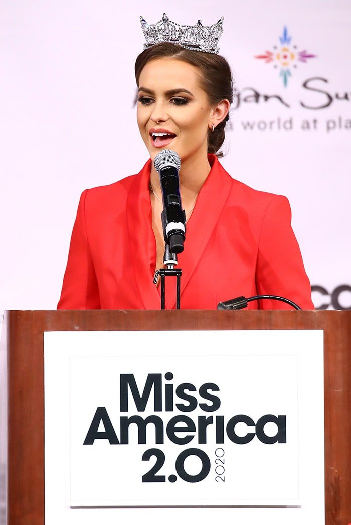 Miss America 2020 CamilleSchrier during the press conference following the competition