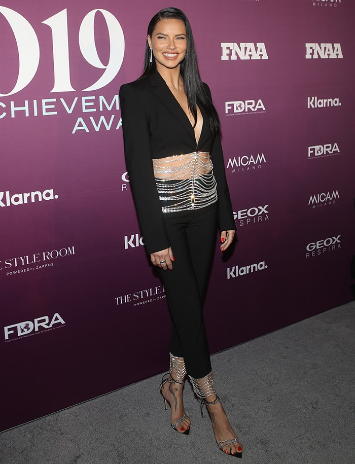 Adriana Lima at the 2019 Footwear News Achievement Awards at IAC Headquarters in New York City on December 3, 2019