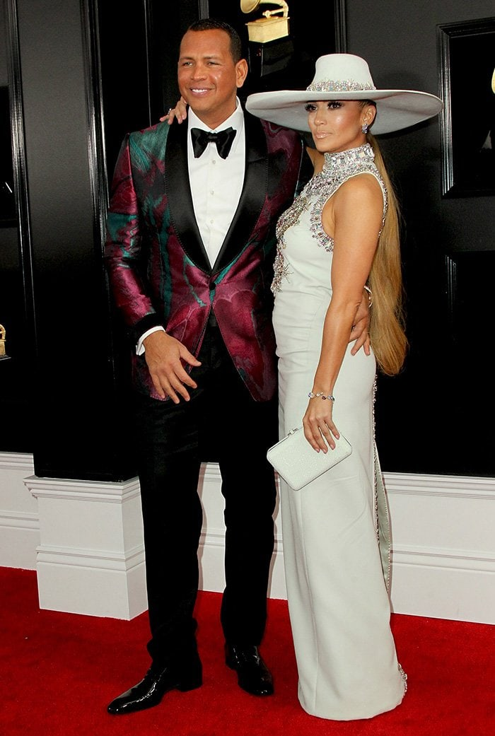 Alex Rodriguez and Jennifer Lopez at the61st Annual Grammy Awards held at the Staples Center in Los Angeles on February 10, 2019