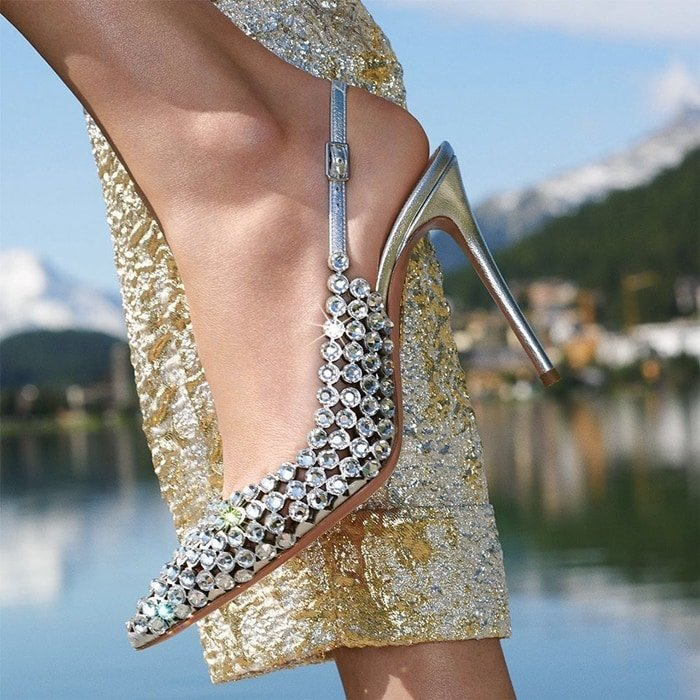 Swarovski crystals add shimmer to alluring stilettos