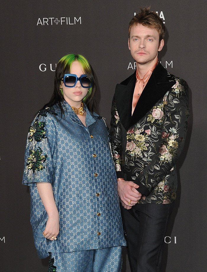 Billie Eilish and her brother Finneas at the LACMA Art + Film Gala 2019 on November 2, 2019