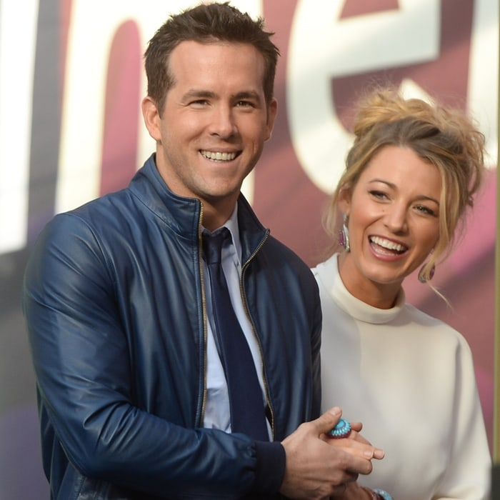 Blake Lively with her husband Ryan Reynolds at the star-studded Chime For Change: The Sound of Change Live benefit concert in London