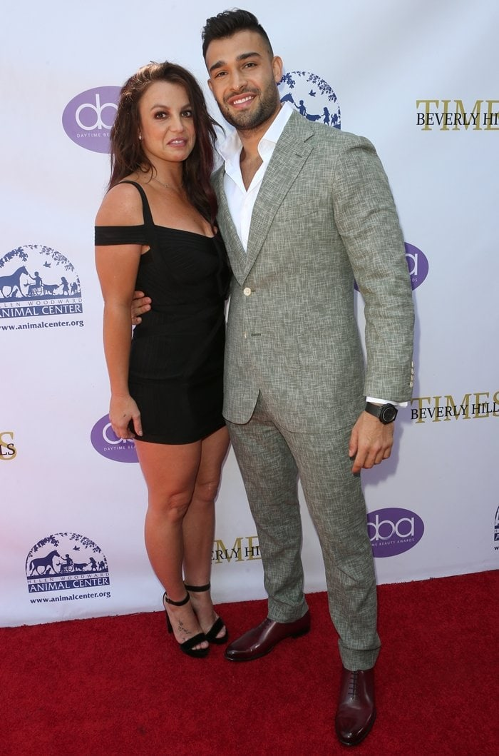 Britney Spears and her boyfriend Sam Asghari at the 2019 Daytime Beauty Awards