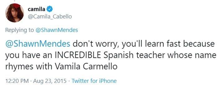 Don't worry, you'll learn fast because you have an INCREDIBLE Spanish teacher whose name rhymes with Vamila Carmello