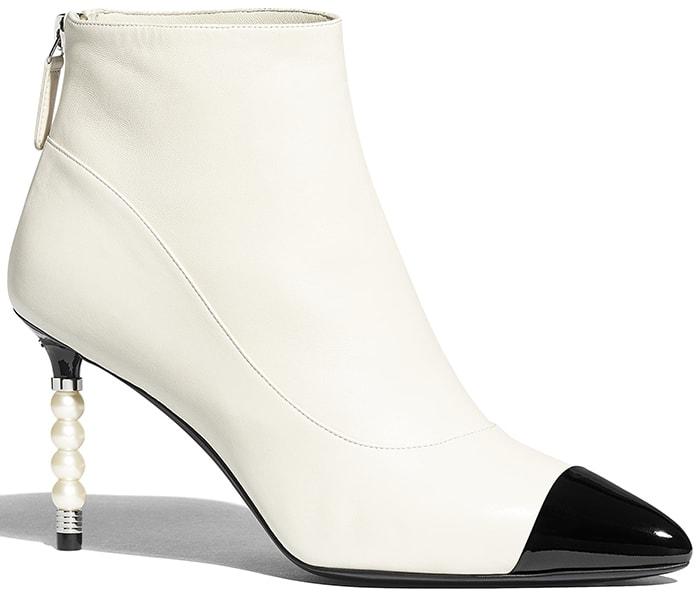 Chanel Lambskin Patent & Calfskin Boots