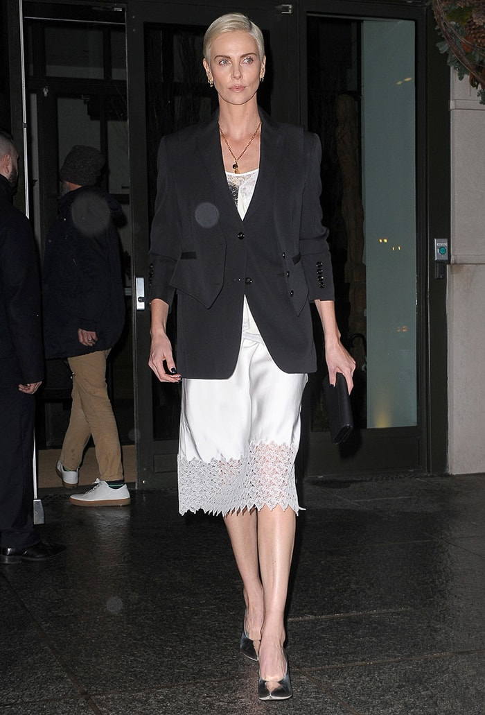 Charlize Theron heading to The Late Show with Stephen Colbert on December 17, 2019