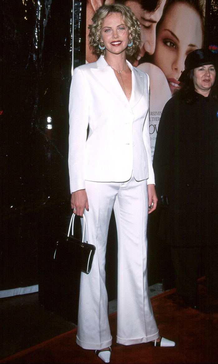 Charlize Theron at the premiere of her new film Sweet November held at Mann Bruin Theatre Westwood, California on February 12, 2001