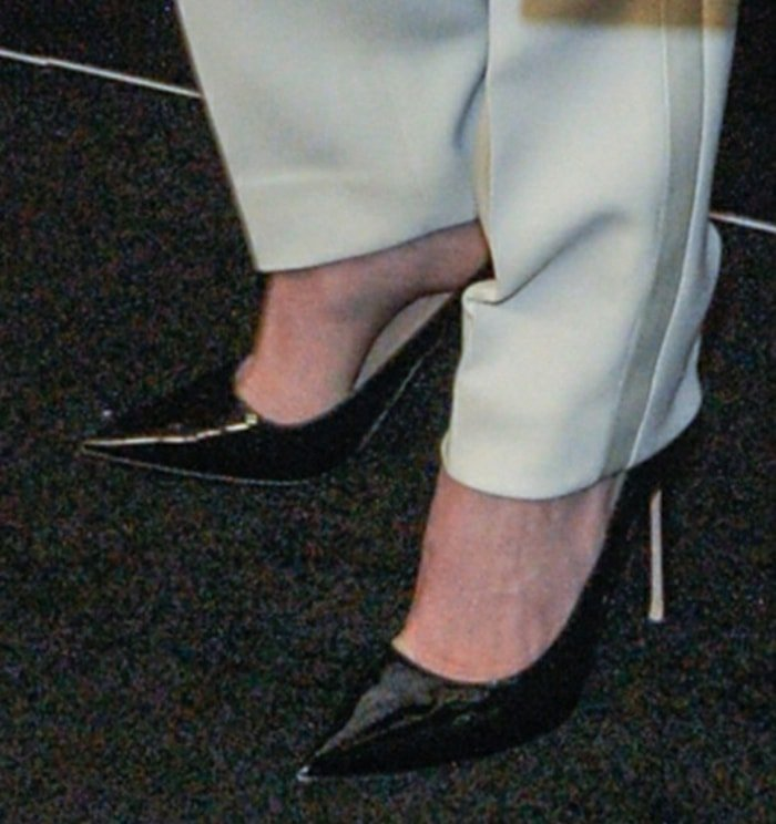 Charlize Theron completes her Dior look with black pumps