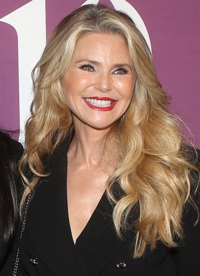 Christie Brinkley has her voluminous curls cascading over her shoulders