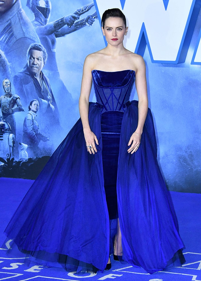 Daisy Ridley at the Star Wars: The Rise of Skywalker European premiereheld at the Cineworld Leicester Square in London on December 18, 2019