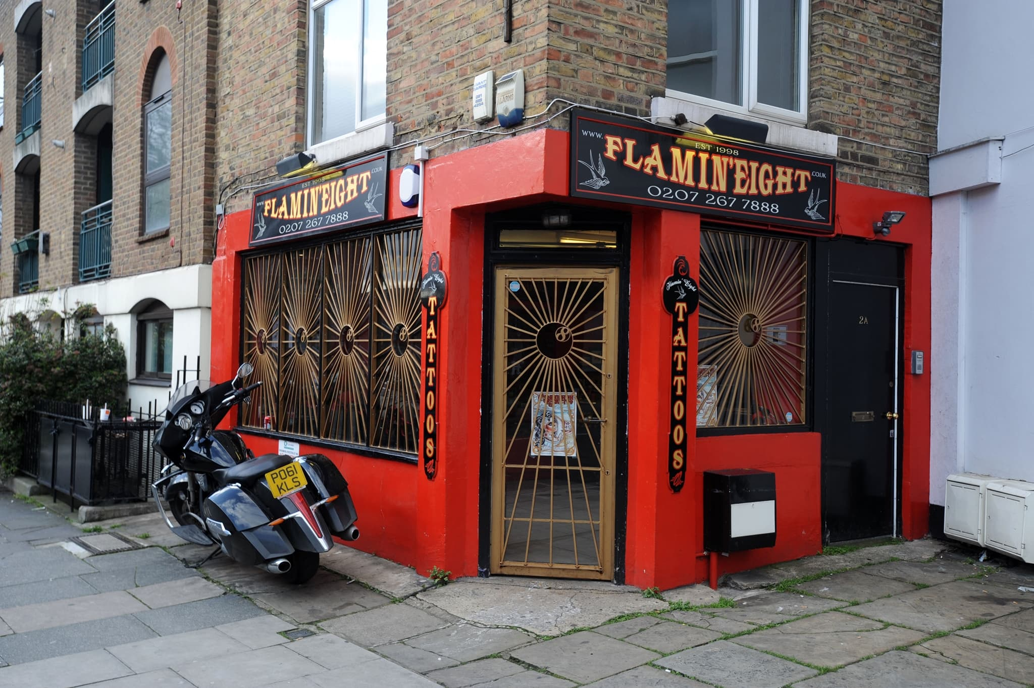 Many celebrities have had their finger tattoos inked at Flamin' Eight tattoo studio on 2 Castle Road in London