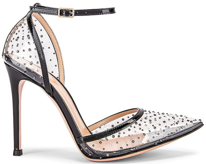 Gianvito Rossi PVC Crystal-Embellished Pumps